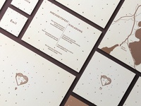S+K wedding invitation design