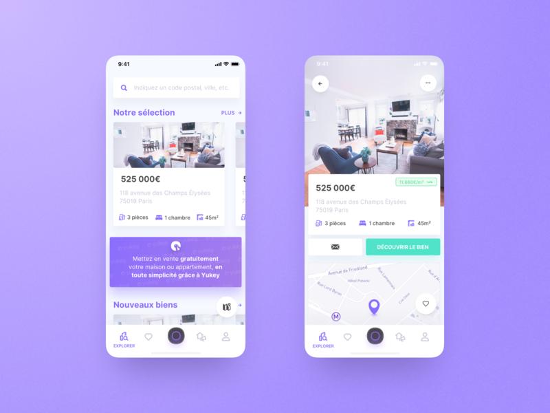 Home of Yukey ui app  design concept design