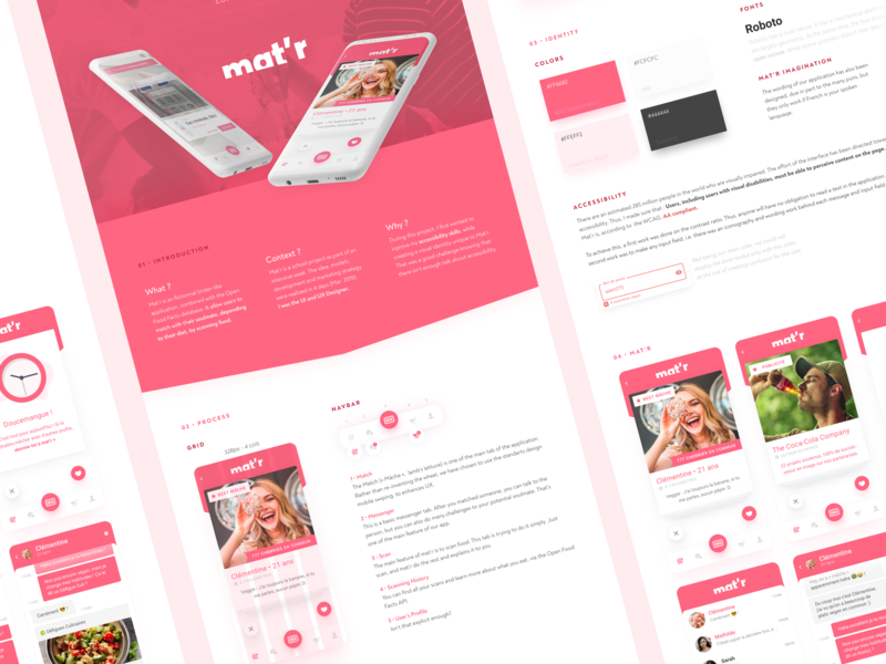 Mat'r dating app android app  design project behance concept case design