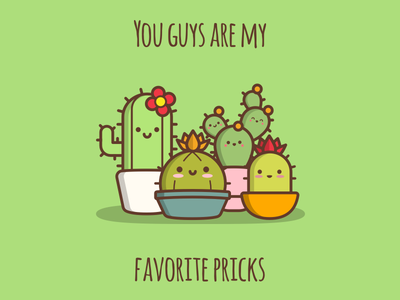 Pricks plants succulent cute prick green cactus