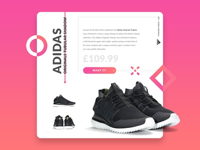 DailyUI - Day1^ day1 adidas challenge ui daily