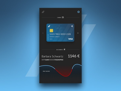 DailyUI - Day3^ graph ui creditcard card bank app day3 daily challenge