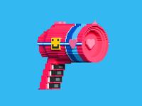 3D Voxel Laser Gun 💞1/2