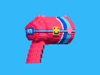 3D Voxel Laser Gun 💞2/2