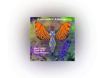 Lavender Lounge Chapstick stickers