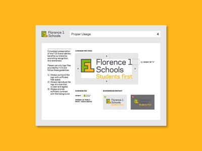 Florence 1 Schools Guidelines 4