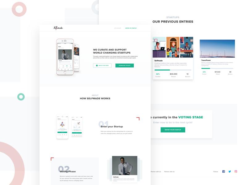 Selfmade: Landing Page UI