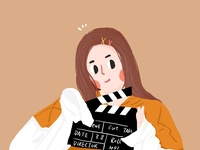 girl beauty illustration cute movie girl