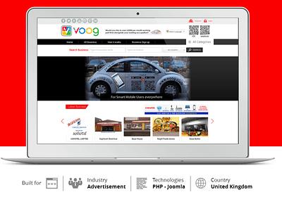 Voog Club Joomla Technology Project for Media Industry branding enterprise webdesign directory website business technology