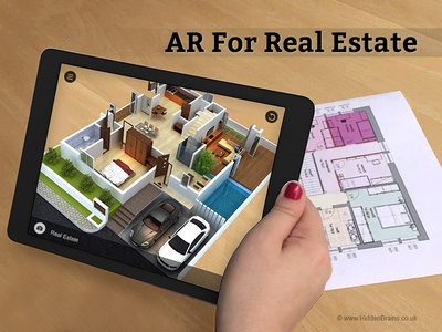 Augmented Reality Real Estate Apps technology design product logo design building housing type negative shape space modern house real estate experience real estate website design ui ux 3d real estate augmented reality