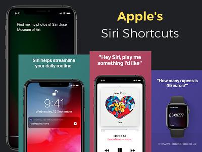 Apple s Siri Shortcuts automotive future iphone audio 3d web assistant voicemail voice ux ui siri shortcuts ai chatbot chat design ios icon app