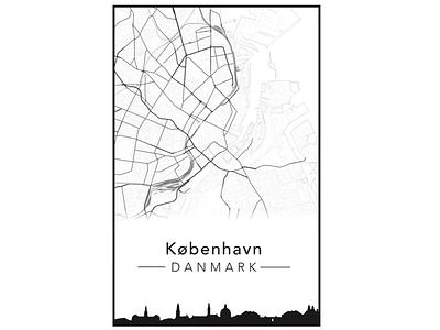 Copenhagen Post map poster