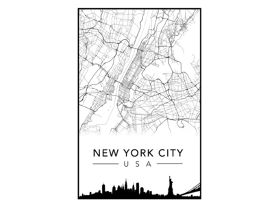 New York City Poster map poster city