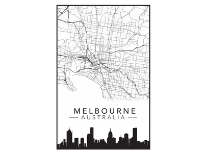 Melbourne City Poster showcase osdesign open source map poster city