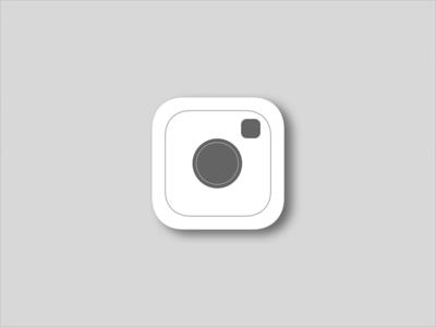 Instagram Logo Redesign showcase app icon minimal redesign icon mobile flat simple instagram