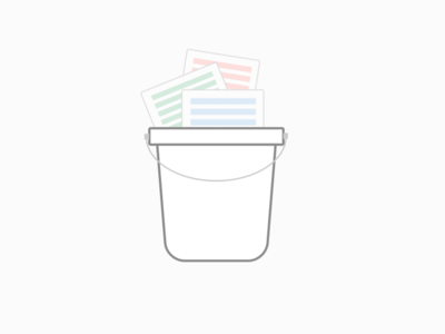 Bucket Post Flat Logo showcase flat pastel logo bucket