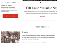 Fall Issue (in progress)