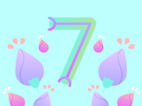 36 Days of Type - 7 gradients vectors pastels flowers typography design typography illustration graphic design design 36 days of type