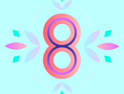 36 Days of Type - 8 gradients vectors pastels flowers typography design typography illustration graphic design design 36 days of type