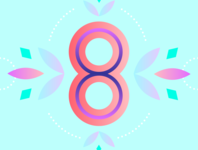 36 Days of Type - 8 gradients vectors pastels flowers typography design typography illustration graphic design design 36 days of type