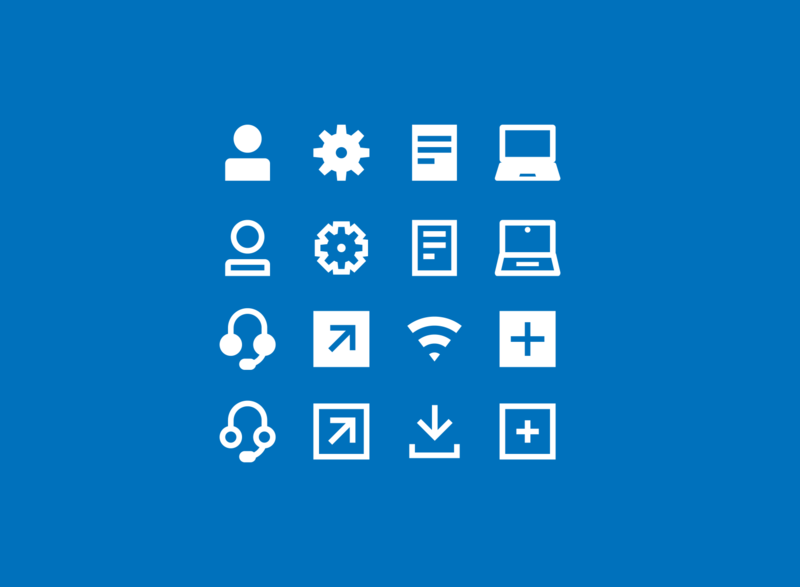 Business Icons plus add download wifi arrow headset laptop document settings user business icon set icons icon