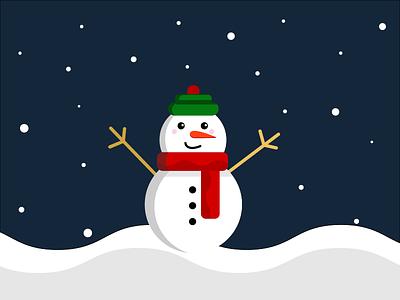 Snowman cute snow winter illustration snowman christmas