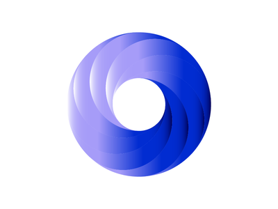Circle Swirl swirl logo o circle gradient