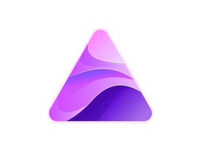 Gradient Triangle gradient logo triangle