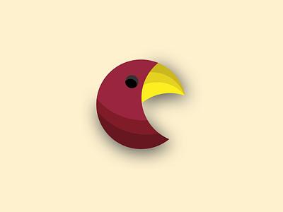 Birdy shapes simple logo bird