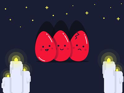 Easter Eggs graphic design flat illustration cute eggs easter