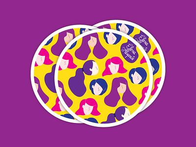 Lwd Expo sticker girls wine and design ladies