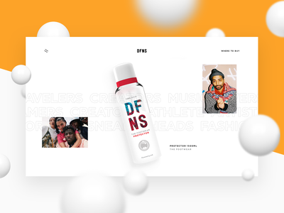 DFNS — Lifestyle Care Products website webdesign web ui sneakers platform interface fashion design