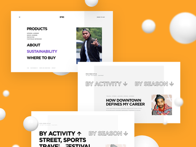 DFNS — Lifestyle Care Products webdesign web ui platform fashion sneakers interface design