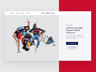 Tommy Hilfiger Global interface platform ui branding tommy hilfiger brand fashion design