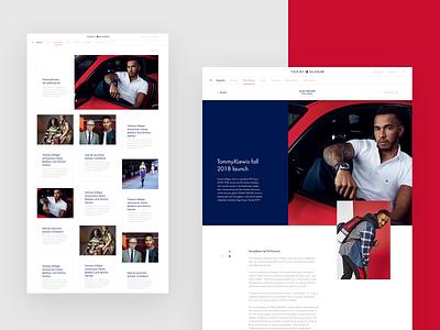 Tommy Hilfiger Global website tommy hilfiger webdesign web ui platform interface fashion design