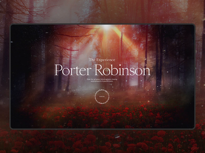 Porter Robinson — The Experience world magical experience website webdesign art direction exploration interface design porter robinson