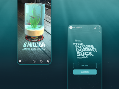 Bacardi Snapchat AR — The Future Doesn't Suck lensstudio bacardi mobile design planet snapchat ar mobile interface design