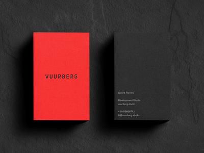 Vuurberg — Logo & Business Cards volcano vuurberg idenity logo branding art direction design