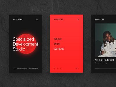 Vuurberg — Mobile branding mobile web website webdesign ui interface design