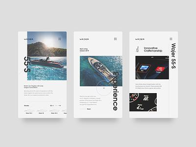 Wajer Yachts — Mobile yachts wajer clean minimal responsive mobile experience platform web website webdesign ui interface design