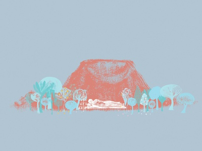 Pidurangala Vihara - පිදුරංගල විහාරය - (mixed media) drawing abstract illustration concept