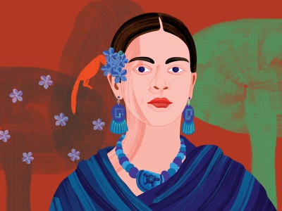 Celebrating Frida - podcast illustration drawing simple illustration concept podcast cover podcast podcast art