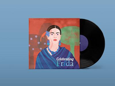 Celebrating Frida - cover art illustration drawing simple illustration concept