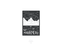 Mahameru Illustration - reversed print