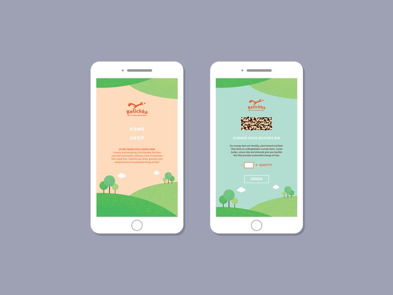 Belichka - mobile version uiux webdesign responsive website branding