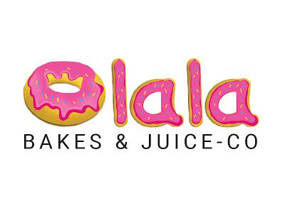 Olala doughnuts letter letter letter logo olala pink juice bakes typography design typography art typography doughnuts illustration design logo