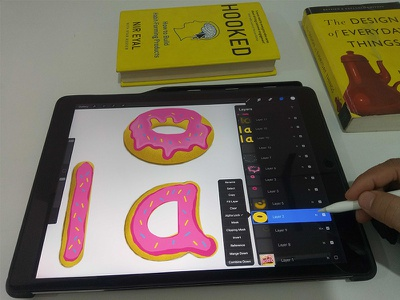 Logo design on ipad pro donuts ipad pro illustration design logo