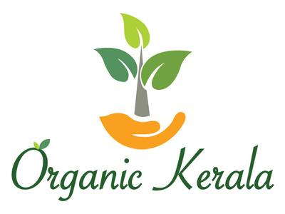 Logos hand leaf organic organic kerala