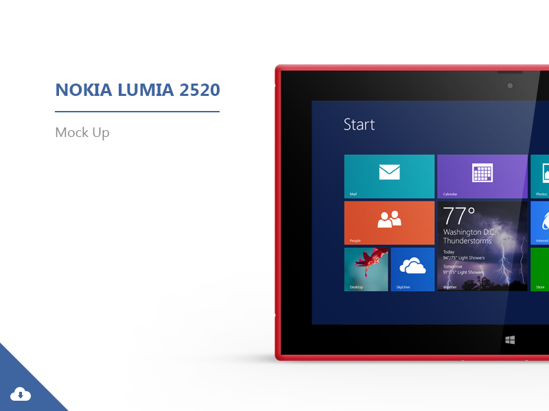 Nokia Lumia 2520 | Mock-ups psd mockup mock-up free download nokia lumia red black device