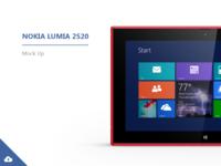 Nokia Lumia 2520 | Mock-ups